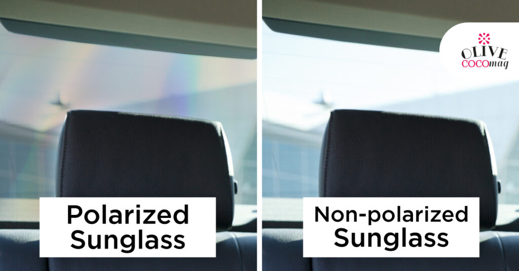 Why Does a Rainbow Effect Appear When Looking Through Two Tinted Glasses?